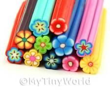 11 Mezclados Bastones De Flores-Arte en Uñas