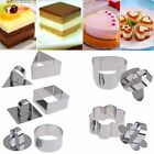 Stainless Steel Mousse Cake Biscuit Cookie Fondant Cutter Mold Mould Baking Tool
