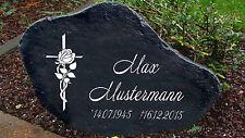 Gedenkplatte Grabstein Gedenktafel Gedenkstein Urne Tiergrab Rosenkreuz  (G)