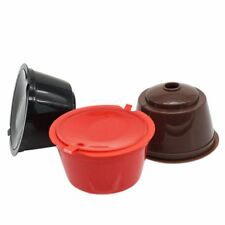 3 Pack Dolce Gusto Refillable Coffee Capsules Reusable Coffee Pods Filters E8G3