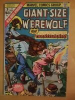 GIANT-SIZE WEREWOLF BY NIGHT #3 1975 Bronze Age Nice Comic