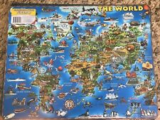 Placemat - The World - Ilustrated Placemap