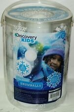 DISCOVERY KIDS 12pc Indoor SNOWBALLS Great Indoor Snowball Fun Feels Like Snow