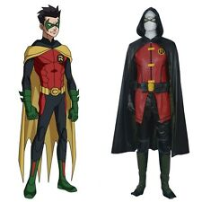 New Batman Young Justice Robin Cosplay Costume Full Set