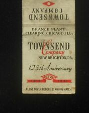 1941 125th Anniversary Townsend Company Rivets Nails Clearing IL New Brighton PA