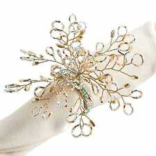 Pier 1 Imports Napkin Ring Luxe Spray Green Beaded Gold White New