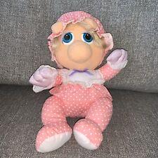 "vintage 1985 hasbro softies jim hanson muppet babies baby miss piggy plush 11"""