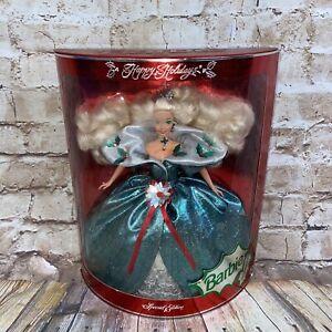 1995 Barbie HAPPY HOLIDAYS Special Edition #14123 Green Mistletoe NIB NRFB NEW