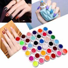 36 Pure + 36 Colorati Glitter gel uv Ricostruzione Unghie Nail Art Manicure Deco