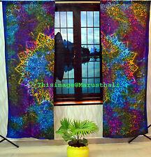 Indian Mandala Bohemian Curtains Tie Dye Tapestry Wall Hanging Valances Decor