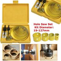 Hole Saw Kit for Wood- 16 Pieces 3/4''-5'' Full Set in Case with 1pcs Hex Key US