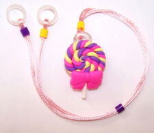 Childs 2 sided Hearing Aids safety Leash loss RETAINER CORD CLIP ..CANDY SUCKER