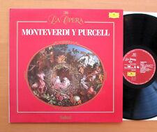 DG 424 335-1 Monteverdi Y Purcell L'Orfeo etc John Eliot Gardiner EXCELLENT
