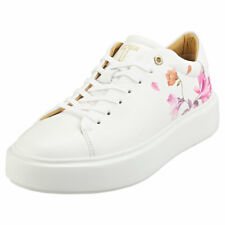 Ted Baker Piixier Womens White Leather Fashion Trainers