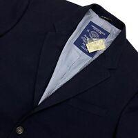 NWT American Eagle AE The Legendary Blazer Navy Blue 2-Button Sport Coat Mens XL