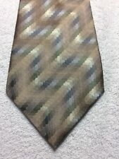 VAN HEUSEN MENS TIE BEIGE WITH BLUE GREEN GRAY 4 X 59