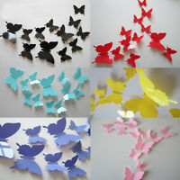 12pcs 3D DIY Butterfly PVC Art Decal Home Decor Kids Room Wall Mural Stickers
