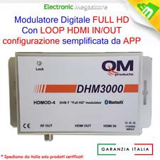 MODULATORE DIGITALE TERRESTRE FULL HD DVB-T FINO A 1080p Ingresso LOOP HDMI