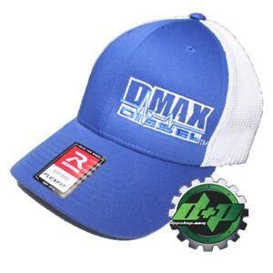 Duramax diesel Richardson 110 DMAX truck hat BLUE Flexfit white mesh back S/M