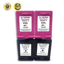 2 Pack For HP 63 63XL Ink Cartridge For HP Deskjet 1110 2132 3630 3633 3634 3636