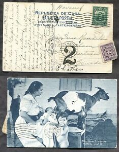 Canada 1913 Shortpaid Postcard from Cuba. Postage Due        (p02102