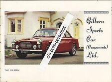 ✇ Original Brochure GILBERN SPORTS CAR very rare 1960er-Jahre