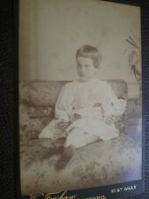 Cdv cabinet photograph child with doll by Forshaw at Oxford c1890s (ref 28 2)