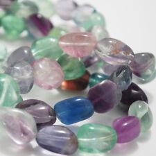 10 perles pépites arc-en-ciel fluorite 16mm Semi Précieux Gemmes