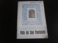 Librito Vida de San Pantaleon heiligenbild santino holy card santini