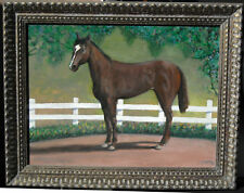 Katie's Narbonni Race Horse Original Painting by native New Mexican Curtis Tabor