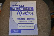 Rubank Intermediate Method Trombone or Baritone book