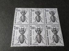 FRANCE 1982, timbre TAXE 106, BLOC QUARTINA, Insectes Scarites neuf**, MNH
