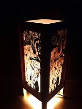 """Asian Oriental Collectible Thai elephant Art Bedside or Table Lamp Shades 11"""""""