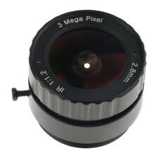 "2.8mm F1.2 1/3"" CS Mount IR Fixed CCTV Lens for Security IP Camera - Black"