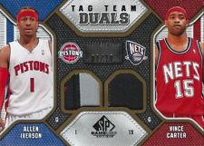 2009-10 Vince Carter Allen Iverson Jersey # SPGU Tag Team Duals PATCH #1/10 SSP