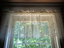 LACE VALANCE CURTAIN WINDOW TREATMENT WHITE 48 X 17 BOUCLE POLYESTER WVCC816
