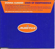 DONNA SUMMER w/ MICHAEL JACKSON Stevie Wonder State Independence MIXES CD Single