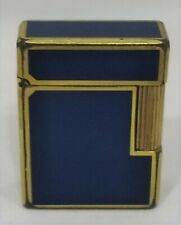 Vintage Dupont Lighter, Blue Chinese Lacquer with Firm