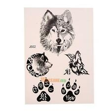 Wolf Tattoos Sticker Waterproof Removable Temporary Tattoos Large Arm Body Art