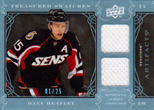 09-10 Artifacts TREASURED SWATCHES 01/25 Made! Dany HEATLEY - Senators