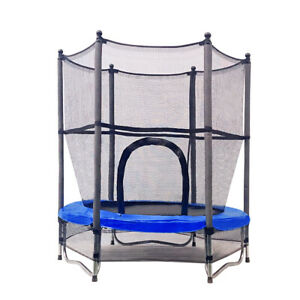 "55"" Mini Trampoline 4.5ft Exercise Jumping Trampoline Indoor/ Outdoor Kids Toy"