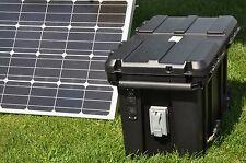 Portable 5000/2500 Watt 200 Ah Solar Generator & 200 Watt Solar Panel