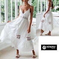 Vestito Lungo Donna Copricostume Stile Coachella Style Woman Maxi Dress 110418