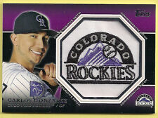 Carlos Gonzalez 2013 Topps Commemorative Patch Rockies Logo Patch Card