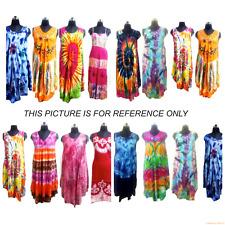 Multi Tie Dye Sundress Beach Wear Casual Tunic Dress 50 Pcs Wholesale Lot Indian