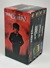 The Omen Collection 4 VHS Box Set Damien Final Conflict Awakening II III IV 2000