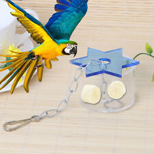 Parrot Pet Bird Cage Feeder Star Hanging Foraging Cockatoo Chew Feeding Cup Toys