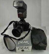 Vintage Nikon AF N8008 SLR Camera w/ Nikon 35-70mm AF Lens, Flash