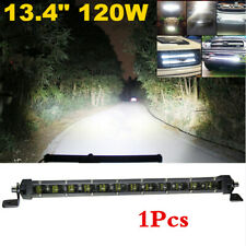 White 120W LED Flood Light Bar Driving Work Lamp Off-Road SUV VAN Boat Truck 12V