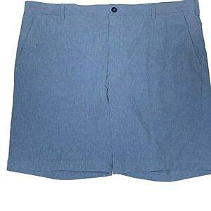 Izod Advantage Performance Stretch Shorts Size 42 Blue Flat Front Quick Dry